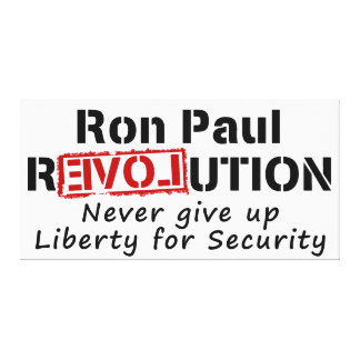 Ron Paul rEVOLution Never give up Liberty Canvas Print
