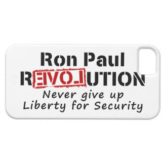 Ron Paul rEVOLution Never give up Liberty iPhone SE/5/5s Case