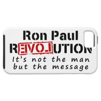 Ron Paul rEVOLution not the man but the message iPhone 5 Cover