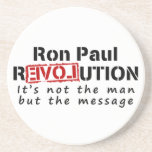 Ron Paul rEVOLution not the man but the message Drink Coasters