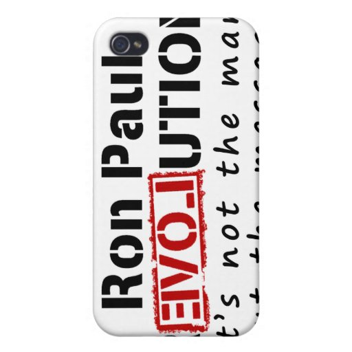 Ron Paul rEVOLution not the man but the message iPhone 4/4S Cover