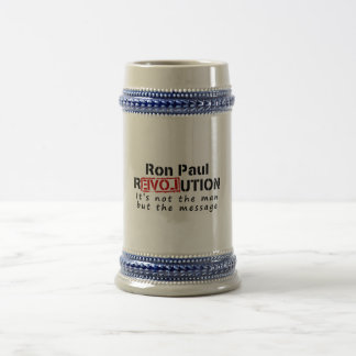 Ron Paul rEVOLution not the man but the message 18 Oz Beer Stein
