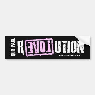 Ron Paul Revolution (pink) Bumper Sticker