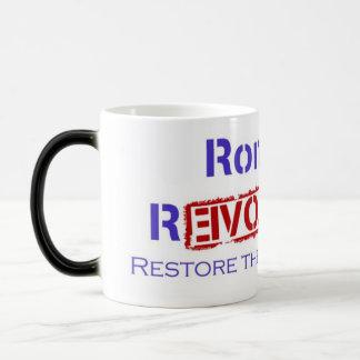 Ron Paul Revolution Restore the Republic Magic Mug