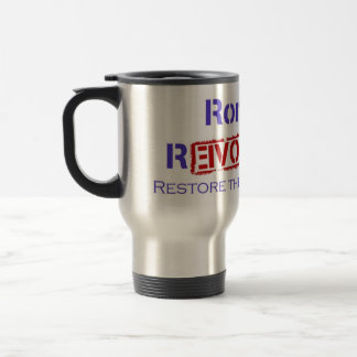 Ron Paul Revolution Restore the Republic Travel Mug