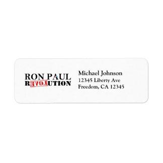 Ron Paul Revolution Return Address Labels