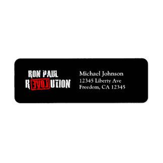 Ron Paul Revolution Return Address Labels (black)