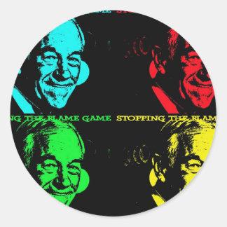 ron paul revolution, ron paul, ronpaul com, repub classic round sticker