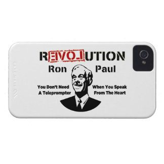 Ron Paul rEVOLution Speak From The Heart iPhone 4 Case