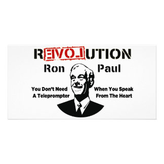 Ron Paul rEVOLution Speak From The Heart Photo Greeting Card