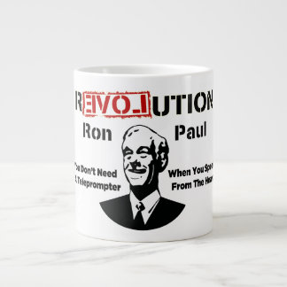 Ron Paul rEVOLution Speak From The Heart 20 Oz Large Ceramic Coffee Mug