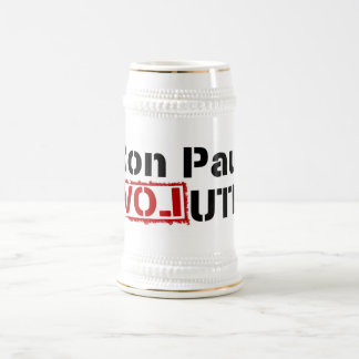 Ron Paul Revolution Stein 18 Oz Beer Stein