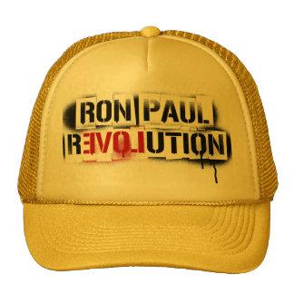 RON PAUL REVOLUTION STENCIL GRAFFITI HAT! TRUCKER HAT