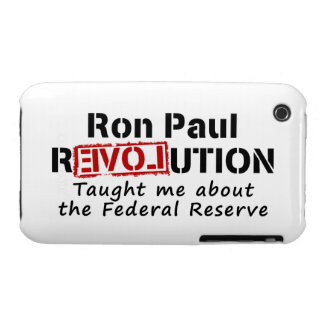 Ron Paul rEVOLution Taught me the Federal Reserve iPhone 3 Case-Mate Cases