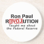 Ron Paul rEVOLution Taught me the Federal Reserve Drink Coaster