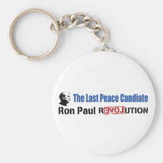 Ron Paul Revolution The Last Peace Candidate Basic Round Button Keychain
