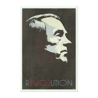 Ron Paul Revolution Vintage Canvases Canvas Print