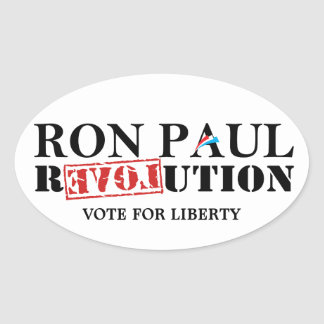 Ron Paul Revolution - Vote for Liberty Oval Sticker