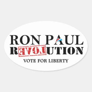 Ron Paul Revolution - Vote for Liberty Oval Sticker