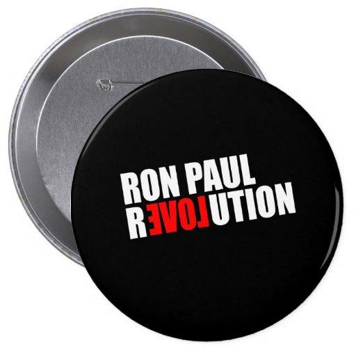 RON PAUL REVOLUTION (white) 4 Inch Round Button