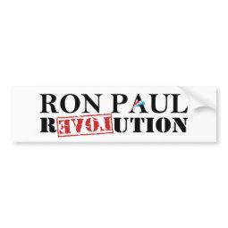 Ron Paul Revolution White Bumper Sticker bumpersticker