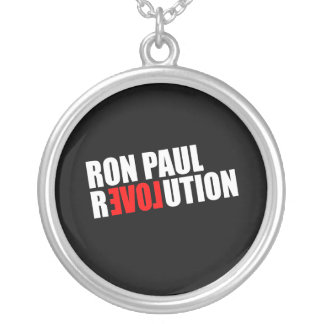 RON PAUL REVOLUTION (white) Round Pendant Necklace