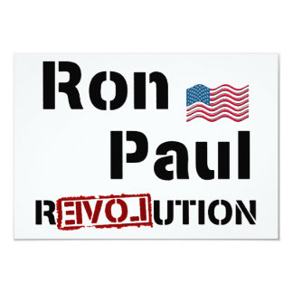 Ron Paul Revolution With American Flag Card