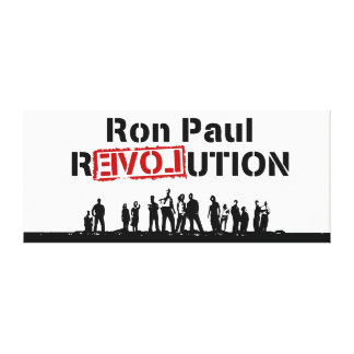 Ron Paul rEVOLution with Supporters Stretched Canvas Print