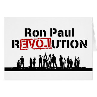 Ron Paul rEVOLution with Supporters Card