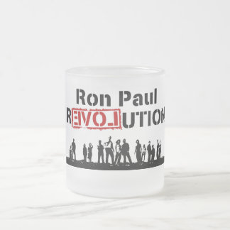 Ron Paul rEVOLution with Supporters Frosted Glass Coffee Mug