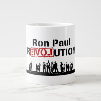 Ron Paul rEVOLution with Supporters Large Coffee Mug