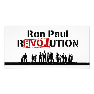Ron Paul rEVOLution with Supporters Picture Card