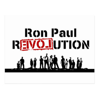 Ron Paul rEVOLution with Supporters Postcard