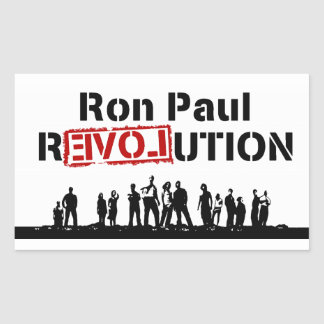 Ron Paul rEVOLution with Supporters Rectangular Sticker