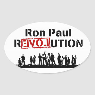 Ron Paul rEVOLution with Supporters Oval Sticker