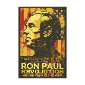 Ron Paul Revolution Wrapped Canvas Canvas Prints