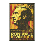 Ron Paul Revolution Wrapped Canvas Canvas Print