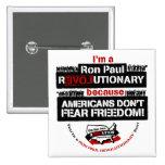 Ron Paul Revolutionary Square Button