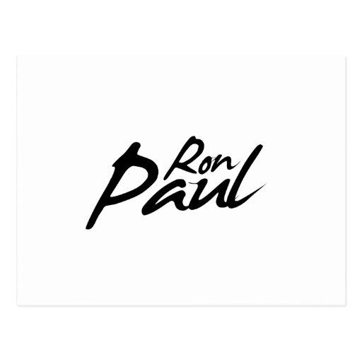 RON PAUL Signature Postcard
