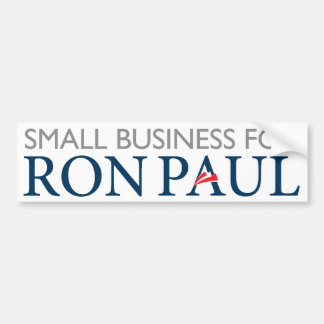 Ron Paul Small Business Bumper Sticker