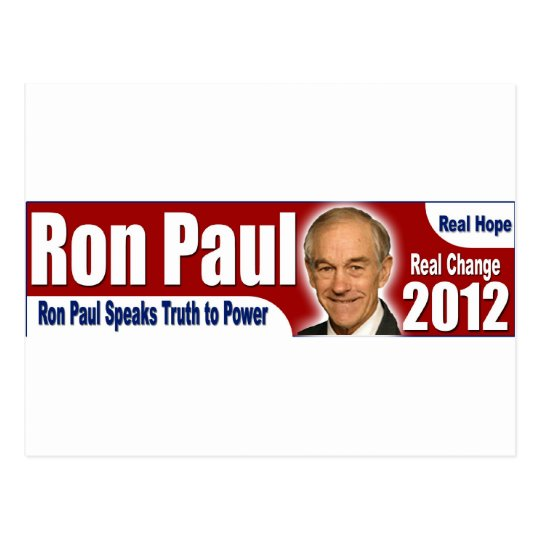 Ron Paul Speaks Truth to Power Postcard