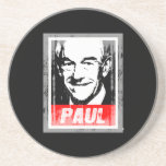 RON PAUL STAMP FADED.png Drink Coaster