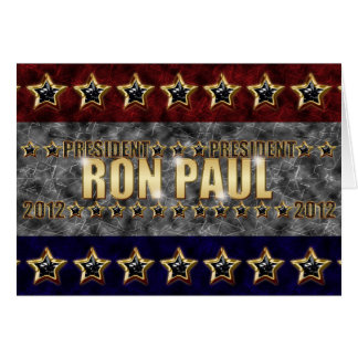 Ron Paul Stars and Stripes. Greeting Card
