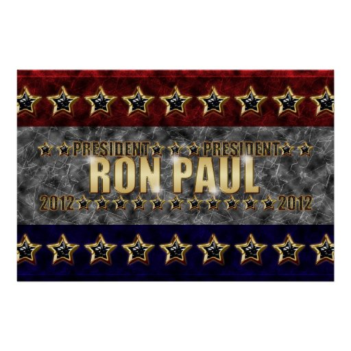 Ron Paul Stars and Stripes. Poster