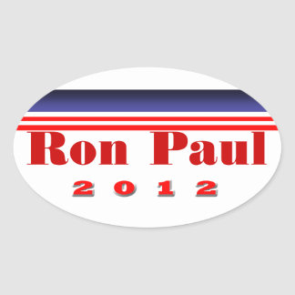 Ron Paul Oval Stickers