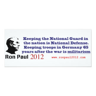 Ron Paul Strong National Defense Not Militarism Card