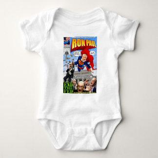 Ron Paul Super Hero Comic Book Baby Bodysuit
