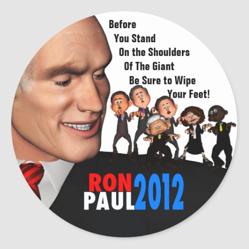 Ron Paul the Giant Classic Round Sticker