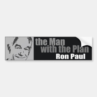 Ron Paul: The Man with the Plan Car Bumper Sticker