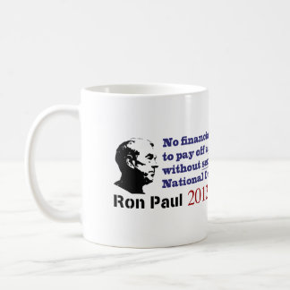 Ron Paul The National Debt Demands Serious Cuts Coffee Mug
